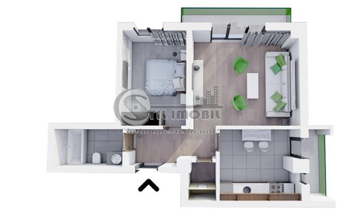 Apartament 2 camere decomandat, BUCIUM FREYA