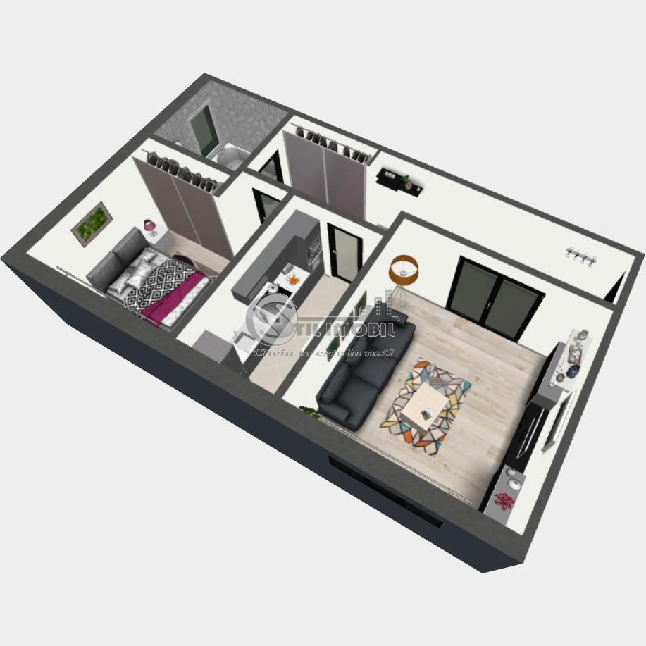 Apartament cu 2 camere mutare imediata, 58mp,  Bucium OMV
