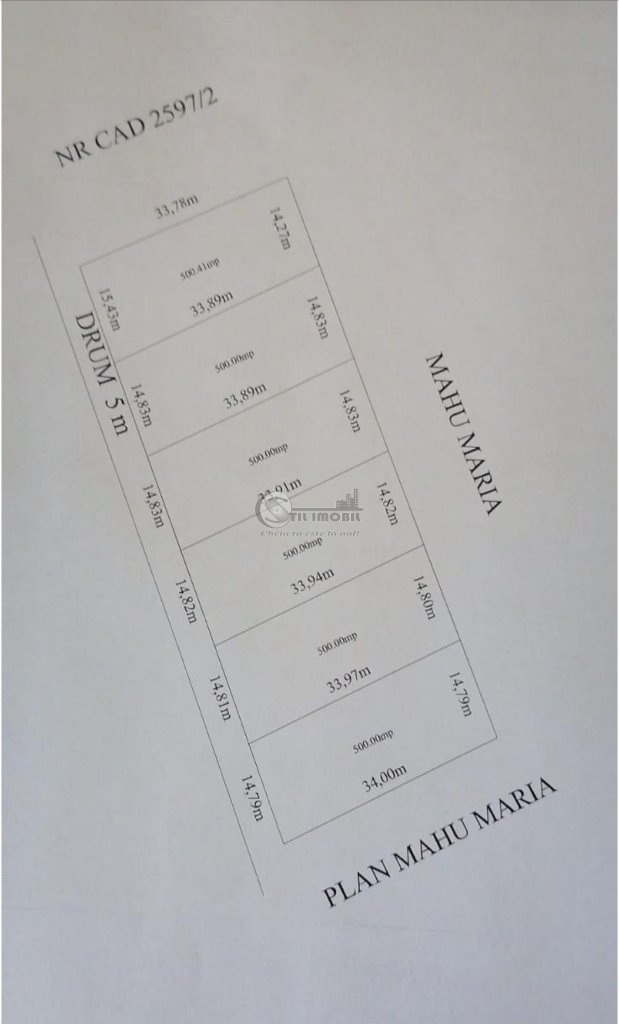 8400 euro Teren TOMESTI-CHICEREA 500 mp 2 loturi intravilan