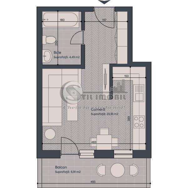 Apartamente Noi - 1 camera - 30753 euro - 8 minute de Piata Unirii