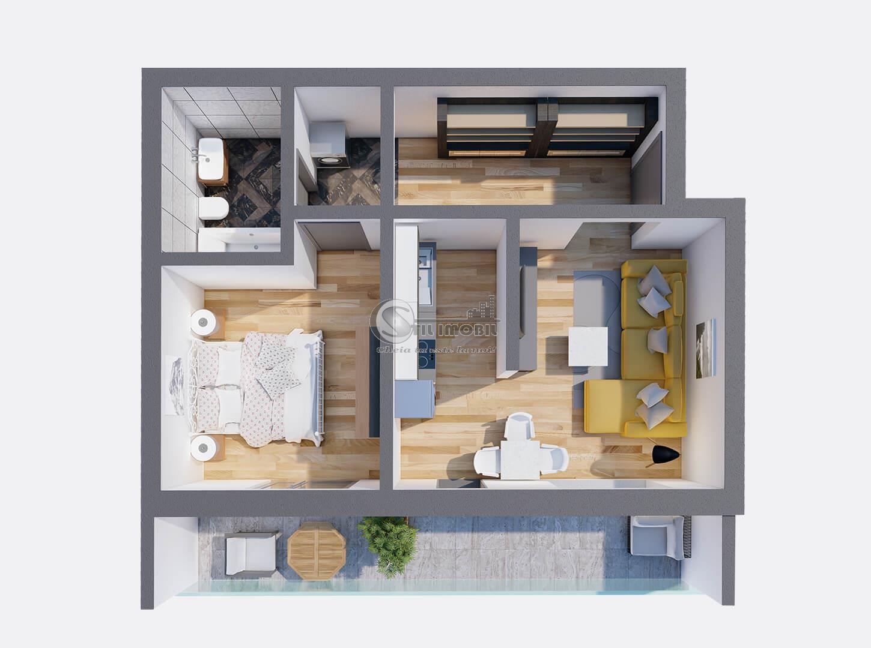 Apartamente Noi - 2 camere - 51887 euro - 8 minute de Piata Unirii