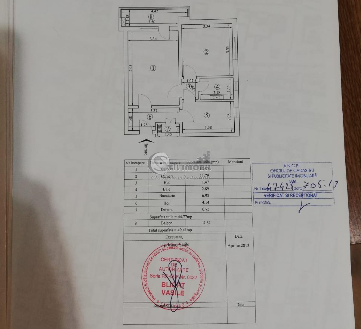 Apartament 2 camere mobilat, Tatarasi - Vasile Lupu, 58000 euro