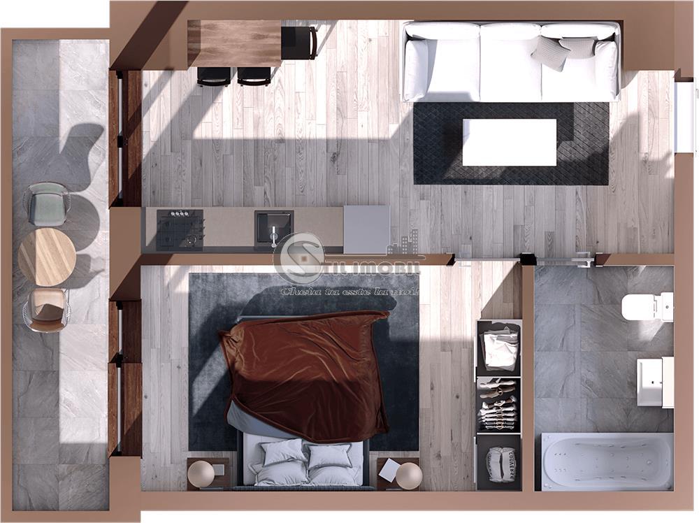 Apartament 2 camere open,49mp,Tatarasi