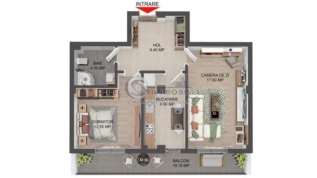 Apartament 2 camere decomandat, loc de parcare, Sos Pacurari ERA