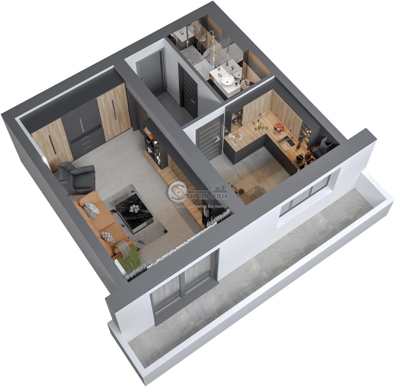 Apartament 1 camera nou 45 mp Continental 48600 euro promo