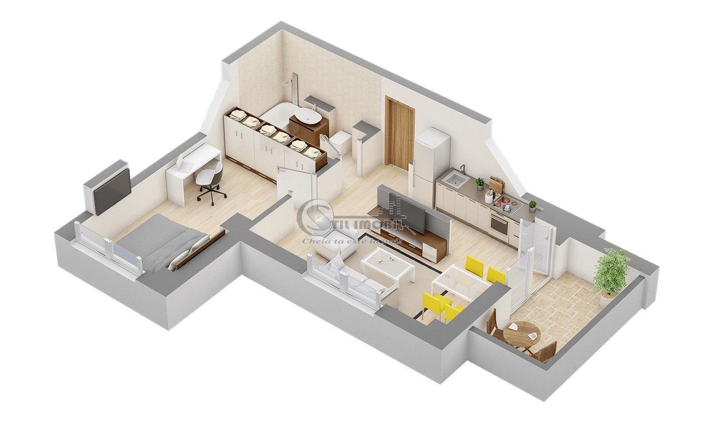 Apartament 2 camere ,Centru Palas ,bloc lux
