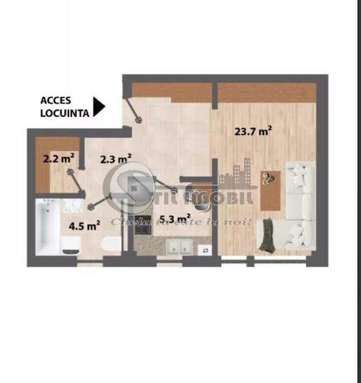 2 camere open ,39mp,terasa 40mp bloc nou CUG