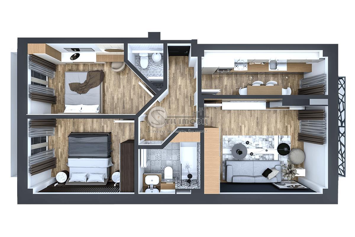 Apartament nou 3 camere, 92mp, Pacurari, 78500 Euro