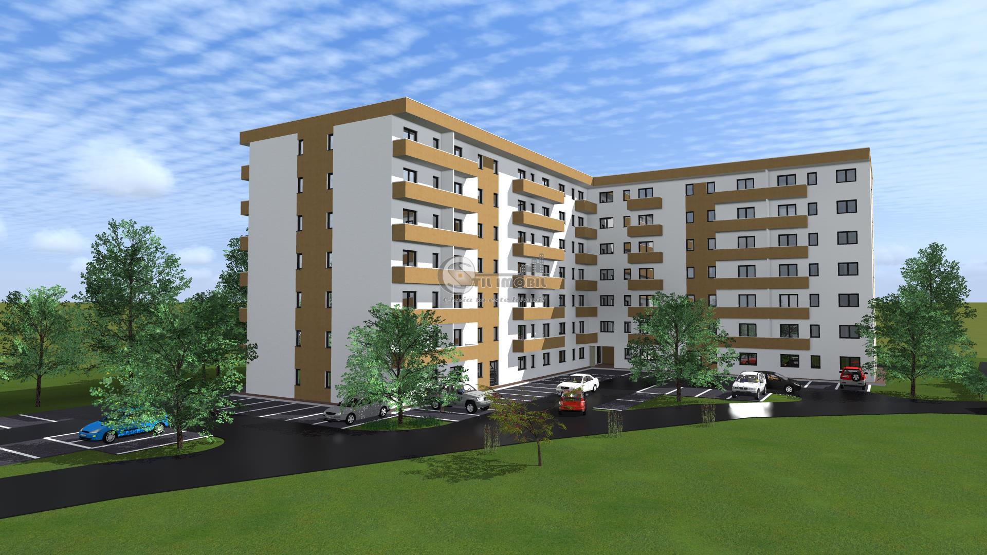 Apartament 2 camere decomandat->Bucium-Visan->47mp utili
