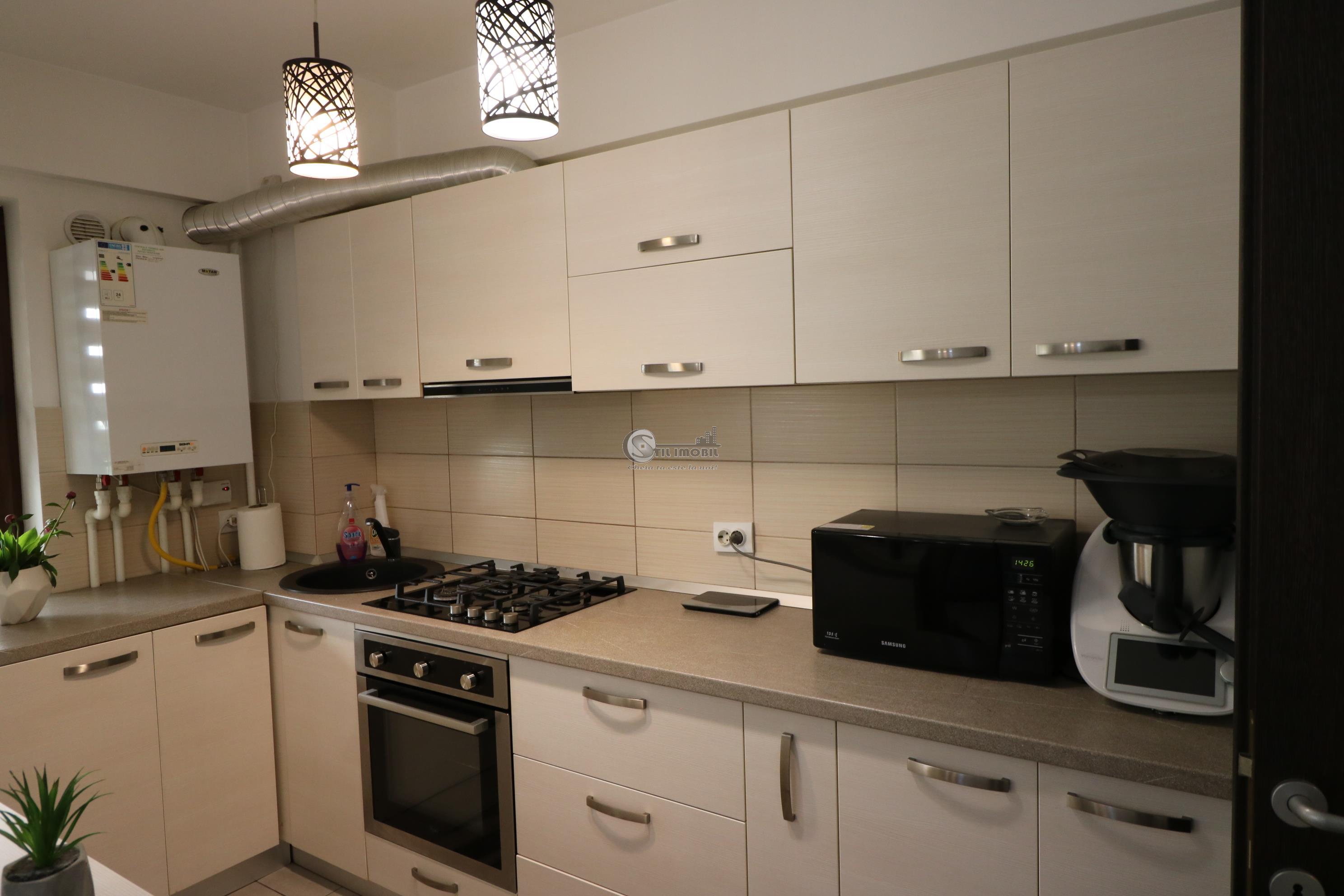 Apartament nou 3 camere, mutare imediata, mobilat+utilat+boxa+loc parc