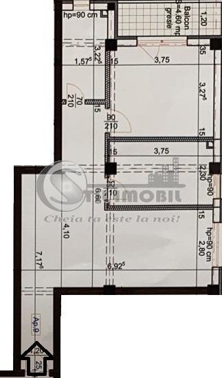 Apartament 2 camere decomandat->61mp->Popas Pacurari