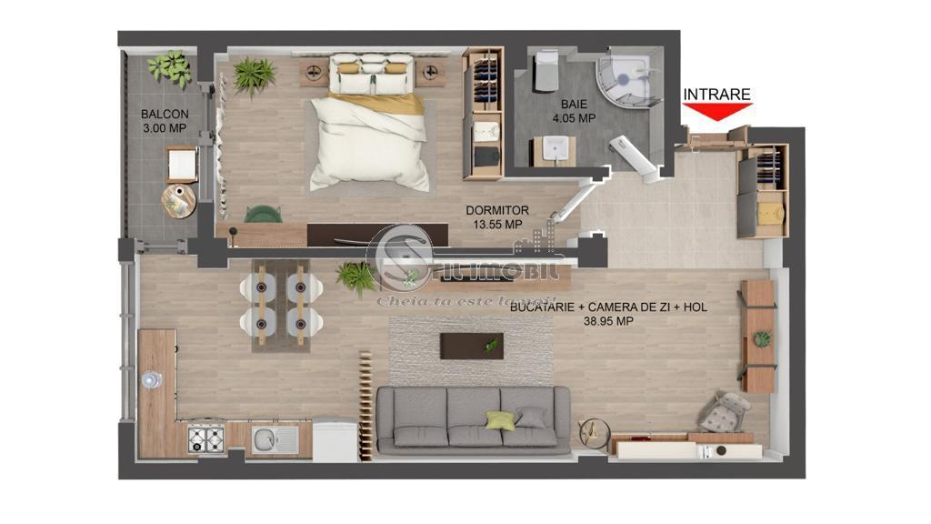 Apartament 2 camere - Valea Lupului - predare august