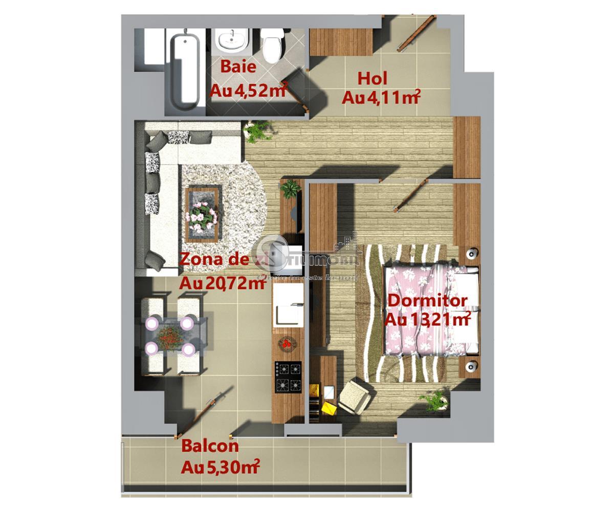 Apartament 2 camere nou->Palas/Podu Ros->ideal investitie