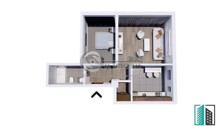 Apartament NOU, 2 camere, 66mp, 64000 Euro