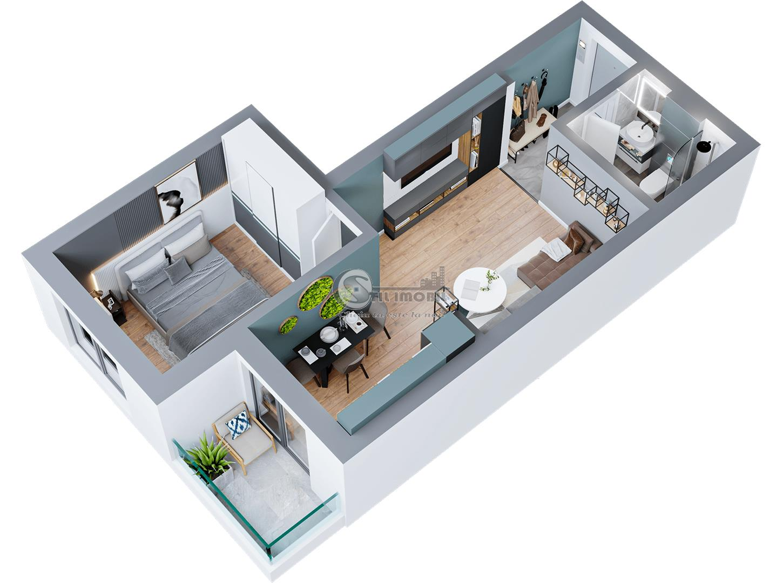 Apartament 2 camere, Dacia, 42 mp, 46.650 euro