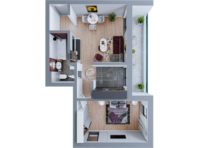 Apartament 2 camere, Dacia, 58 mp, 63.400 euro