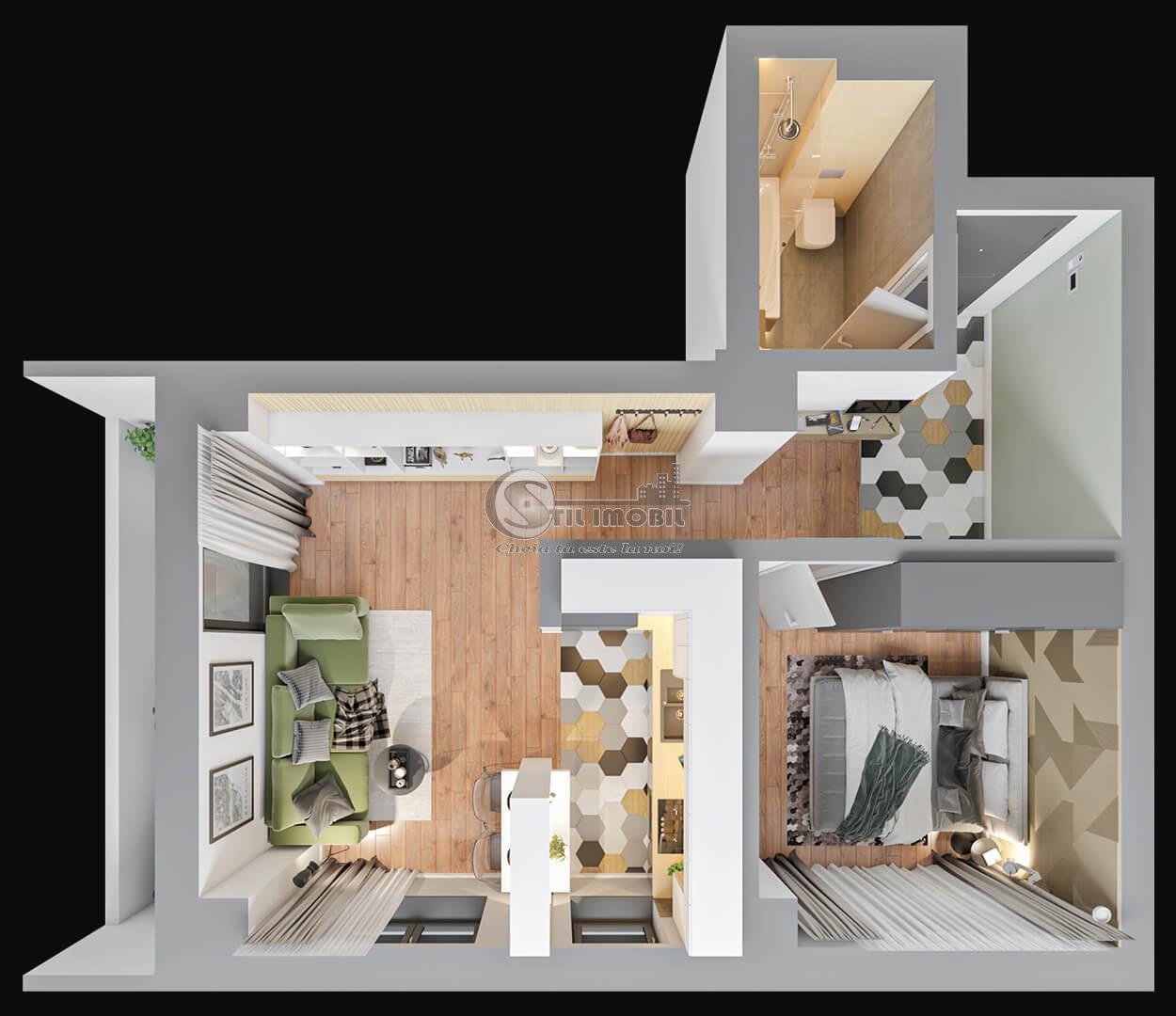 Apartament 2 camere, Tatarasi, 54 mp, 67.200 euro