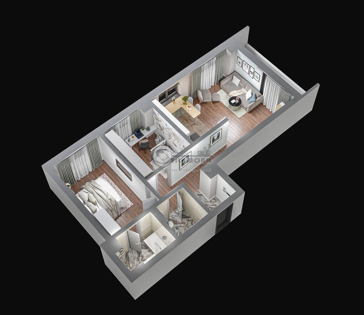 Apartament 3 camere, Tatarasi, 68 mp, 84.500 euro