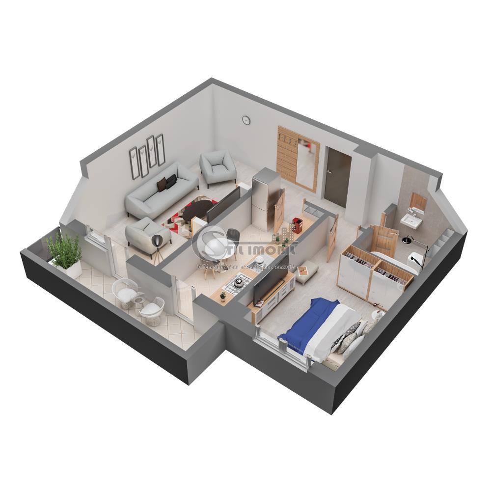 Apartament nou 2 camere decomandat Dacia 72144 euro