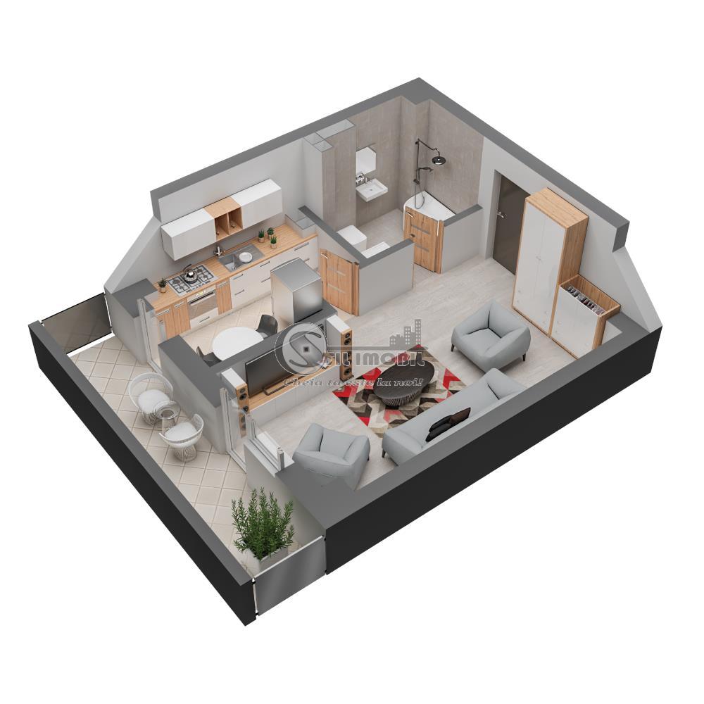 Apartament nou 1 camera 44.08 mp Dacia 52826 euro
