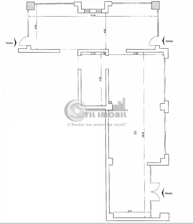 Spatiu comercial 184 mp Tudor Vladimirescu 350336 euro TVA inclus