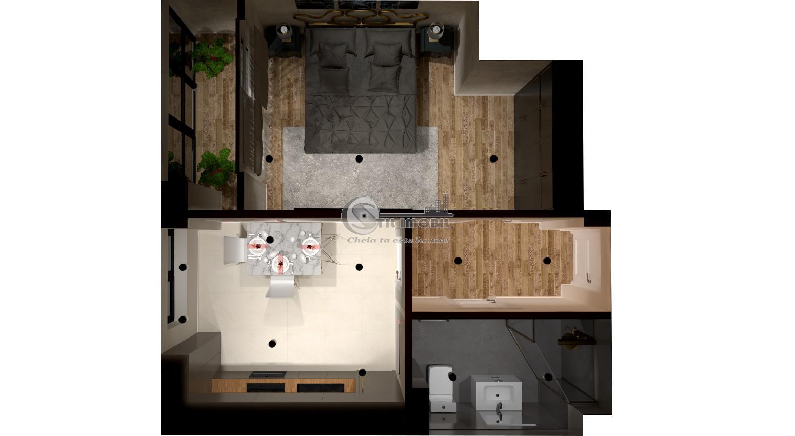 Apartament 1 camera NOU, decomandat, CUG, +loc de parcare
