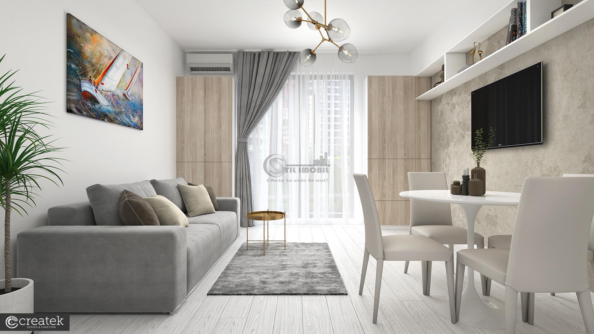 Apartament NOU, 1 camera, decomandat, Palas