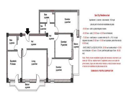 Apartament 4 camere - RATE DEZVOLTATOR