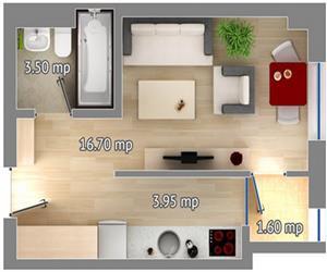 Apartament 1 camera tip 1 Concept