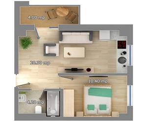 Apartament 2 camere tip 1 Concept
