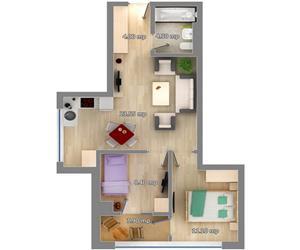 Apartament 3 camere tip 1 Concept