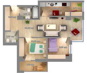 Apartament 3 camere tip 2 Concept