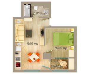 Apartament 2 camere tip A Centru Palas