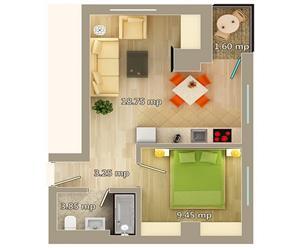 Apartament 2 camere tip B Centru Palas