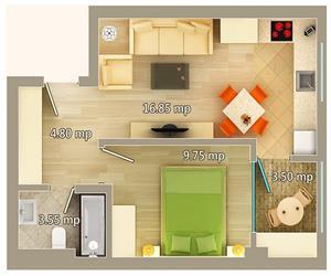 Apartament 2 camere tip C Centru Palas