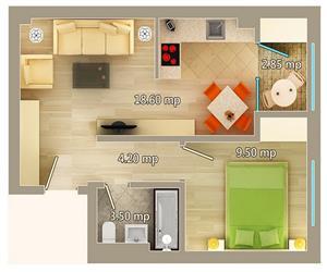 Apartament 2 camere tip D Centru Palas