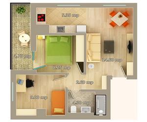 Apartament 3 camere tip A Centru Palas