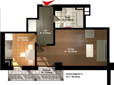 Apartament 1 camere Tip 3