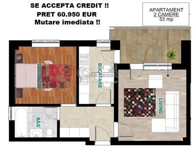 Apartament 2 camere decomandat Tip 4