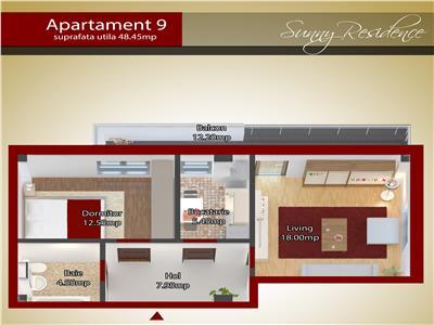 Apartament 2 camere capat CUG 45600 EURO - parter