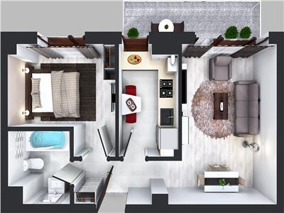 Apartament 2 camere 45mp Tip E
