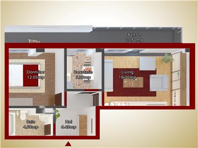 Apartament 2 camere capat CUG 49000 EURO - ETAJ 1
