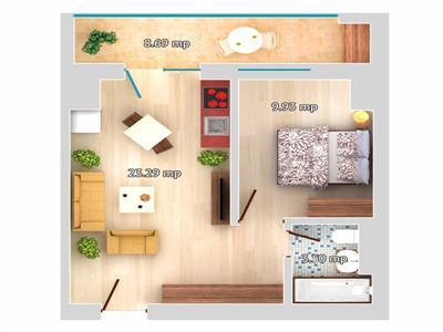 Apartament 2 camere Tip E - Galata