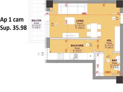 Apartament 1 camera decomandat Bucium