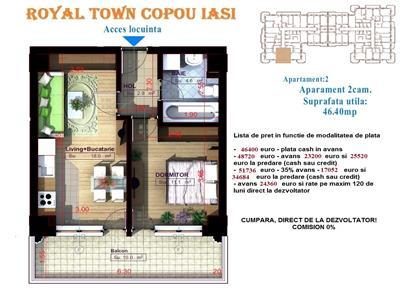 Apartament 2 camere - Copou Iasi