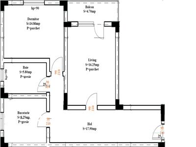 Popas Pacurari bloc  2017 cu lift apartament 2 camere decomandat