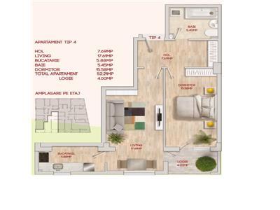 Apartament 2 camere CENTRAL Bloc Nou