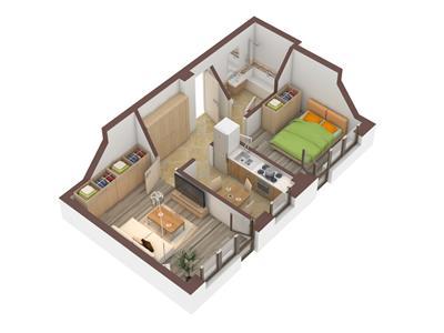 Apartament 2 camere, decomandat + 50mp gradina - 40.000Euro