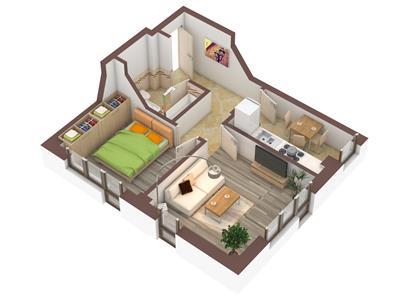 Apartament 2 camere, decomandat + 90mp gradina - 45.000Euro