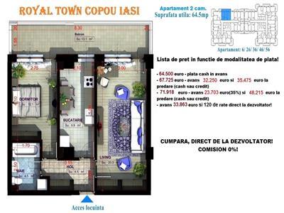 Apartamente noi Copou Iasi - 3 camere decomandat
